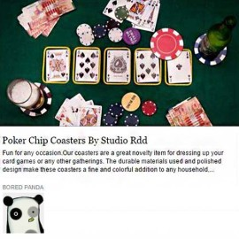 Poker Chip Coasters - RDD - Bored Panda